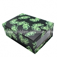 2 in 1 foldable box with colorful paper and PVC window and matt lamination