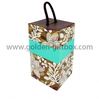 Special design foldable box with matt lamination and PP string handle
