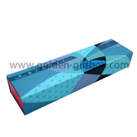 Custom special elongated gift box with hot stamping logo and embossing