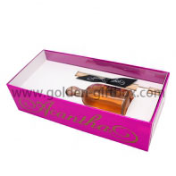 Hot sale rectangular cosmetic box with insert card and PVC lid