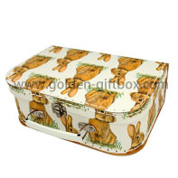 High-end stitching box with suitcase type and fantastic design and metal handle