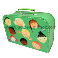 Custom design of various cartoon designs and high-end stitching box with suitcase type and and metal handle