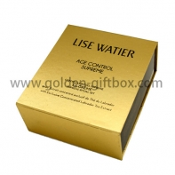 Foil gold paper foldable box with display function