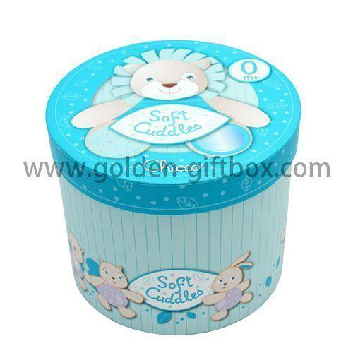 Cylindrical Recycled Materials box with beautiful pattern design  and tray type