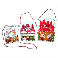 Lovely small christmas house shape cardboard gift packing box