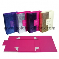 High-end paper rigid gift box magnetic closure luxury foldable packaging