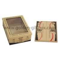 Foldable display box with Pvc window /cardboard display gift boxes with clear window