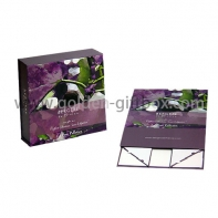 Personalized magnetic closure/ribbon bow closure luxury foldable skin care set packaging box
