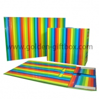 Recycled foldable hard paper gift box packaging