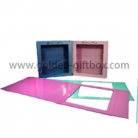 Promotion best quality gift foldable packaging box with clear window to display