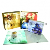 Customized high-end luxury foldable  cardboard skin care set packaing box/jewelry box