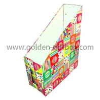 Special Shape Trapezoid Paper Cardboard Stationery Storage Foldable Packaging Box