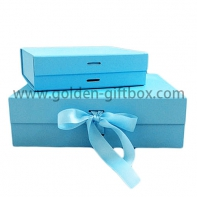 Customized any color and style ,Ribbon bow luxury jewelry gifts packaging paper box
