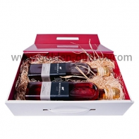 Popular best selling cardboard printed folding wine paper gift boxes