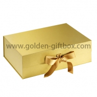 2017 popular luxury gold foldable gift box/skin care set packaging box/jewelry box
