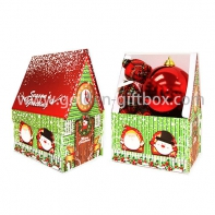 Christmas house shape gift box, foldable Christmas gift box