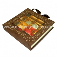 fancy paper chocolate hinged gift packaging box