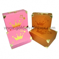 Custom design color printing logo hinged lid Suitcase