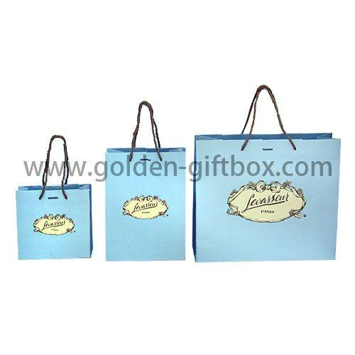Customized Size Color Print logo Shopping Bag