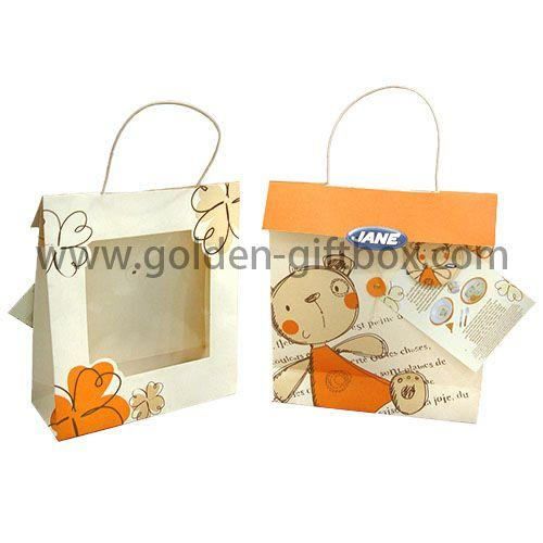 Newly fashion custom hollow out paper gift bags