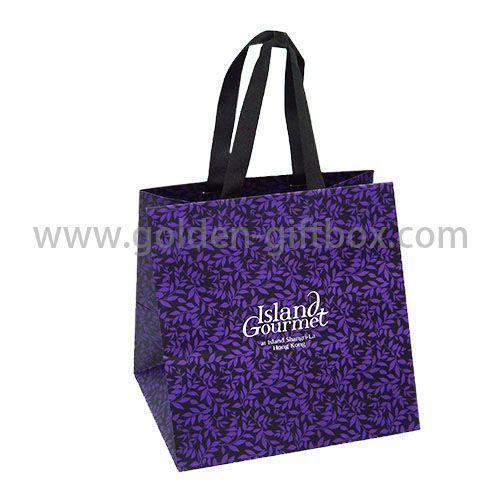 purple custom shopping bag
