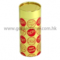 Elegant cylindrical cardboard boxes packing