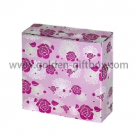 2017 hollowed pink pattern gift box packaging