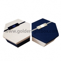 Customized Decorative and Eco Friendly hexagon packaging box