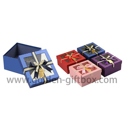 Custom gift box with ribbon /cake box design packaging