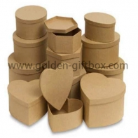 Custom Design Printed Packaging Corrugated Paper round/hear Box for Mailing or Shipping
