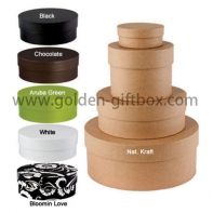 Custom colorful round flower gift box elegant full color package box