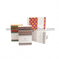 Drawer box for gifts & premium with colourful pattern designs