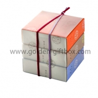 3 levels drawer box with different colour combination and decorative string