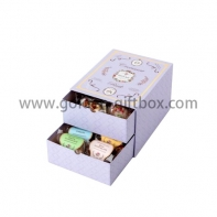 2 drawers candy box with elegant pattern design