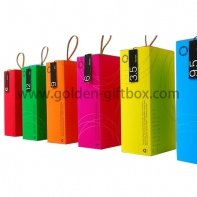 Neon colour series drawer boxes with different colours and leather handle