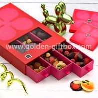 3 drawers window box for candies, chocolate and snacks