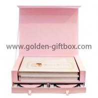 Elegant pink colour drawer box for gifts and premium items