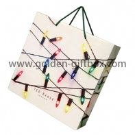 Shopping bag for lighting products with PP string handles