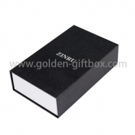 High quality fancy paper hinged gift box with white colour tray