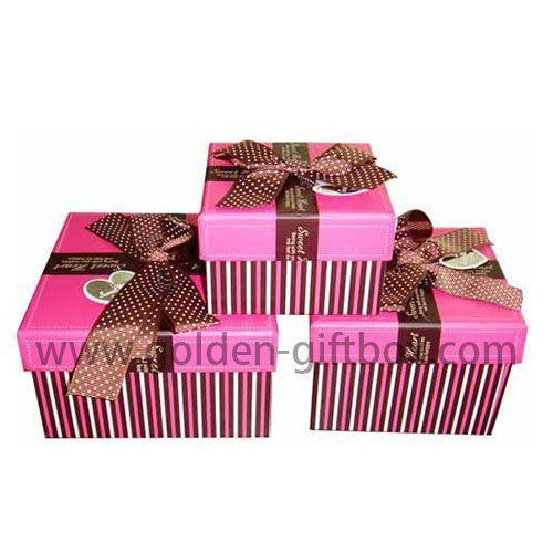 ribbon bow beautiful gift paper box lid & tray gift packaging