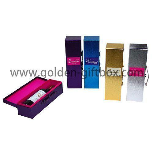Hardcover paper wine packed giftbox
