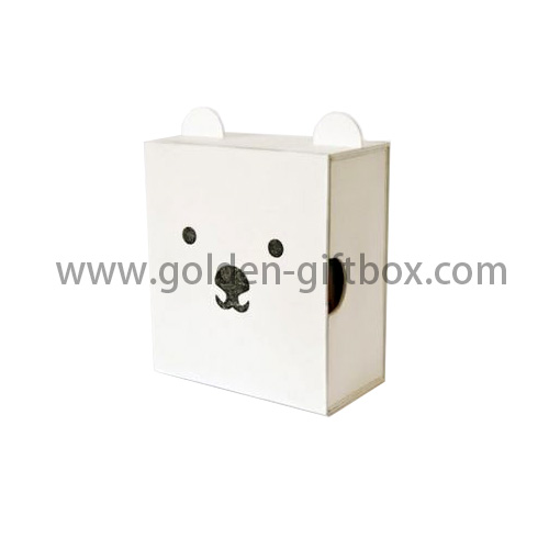 Teddy Bear drawer box for gifts and premium items-Golden